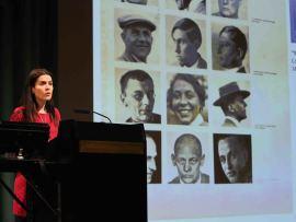 Laura Martínez de Guereñu. En conferencia sobre Josef Albers y España. Un antes y un después - En torno a Josef Albers , 2014