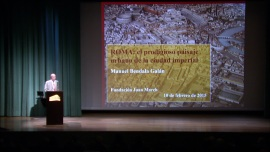 Manuel Bendala. En conferencia sobre Roma: el prodigioso paisaje urbano de la ciudad imperial - Las ciudades en la antigüedad mediterránea , 2015