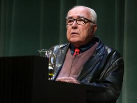 Román Gubern. En conferencia sobre Art déco en el cine - Universo déco , 2015
