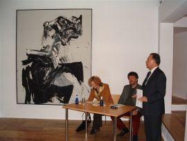 Stella Wittenberg, José Capa Eiríz y Helmut Friedel. Exposición Kandinsky, acuarelas Städtische Galerie im Lenbachhaus, Munich, 2004