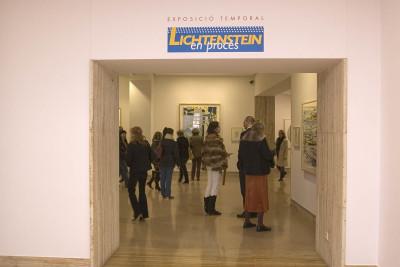 Vista parcial de la exposición Lichtenstein, en proceso