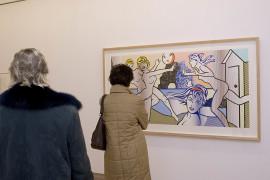 Vista parcial de la exposición Lichtenstein, en proceso, 2006