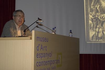 Juan Antonio Ramírez en el curso sobre Arte pop americano