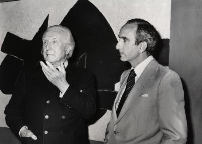 Aimé Maeght y José Luis Yuste Grijalba. Exposición Georges Braque Óleos, gouaches, relieves, dibujos y grabados