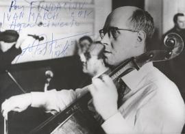 Dedicatoria de Mstilav Rostropovich a la Fundación Juan March, 1976