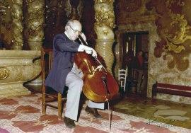 Mstilav Rostropovich en el Homenaje a Pau Casals en su centenario, 1976