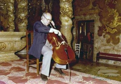 Mstilav Rostropovich en el Homenaje a Pau Casals en su centenario