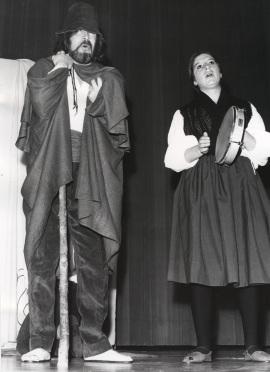 Carmen Heyman y Servando Carballar. Recitales de Poesía y teatro en homenaje a la Generación del 27, 1977