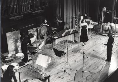 José Luis Temes, Mª José Sánchez y Grupo de Percusión de Madrid. Concierto I Ciclo de música española del siglo XX