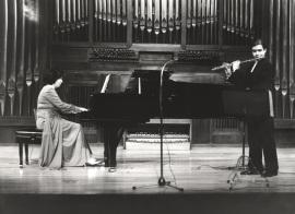 Ana María Gorostiaga y Antonio Arias Gago Gago. Recital de flauta y piano, 1979