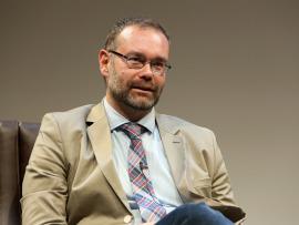 Kerman Calvo. En conferencia sobre Movimientos antisistema, 2014