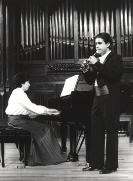 Antonio Arias Gago Gago y Ana María Gorostiaga. Recitales para Jóvenes, 1980