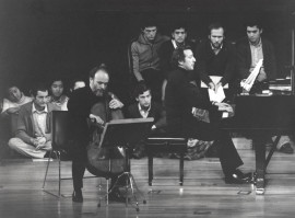 Pedro Corostola y Manuel Carra. Concierto Sonatas para violoncello y piano de Beethoven , 1981