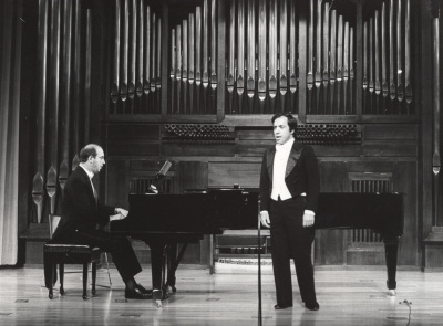 Fernando Azevedo y José de Oliveira. Concierto Homenaje a Pessoa