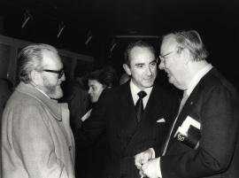 Pablo Serrano, José Luis Yuste Grijalba y Robert Motherwell. Exposición Robert Motherwell, 1980