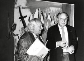 Rafael Alberti y Robert Motherwell. Exposición Robert Motherwell, 1980