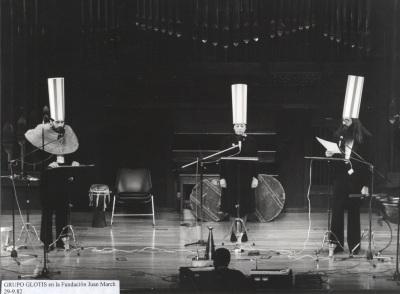 Grupo Glotis. Concierto Música para una exposición Schwitters