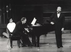 Miguel Zanetti y Manuel Cid. Concierto Goethe y la música , 1982