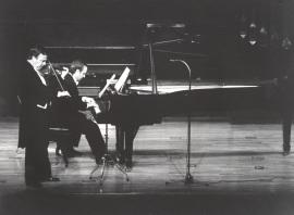 Pedro León y Julián López Gimeno. Concierto Brahms: integral de la obra de cámara con piano , 1983