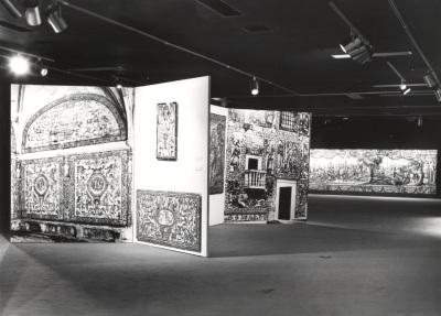 Vista parcial de la exposición Azulejos de Portugal (Actos de Portugal)