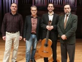 Jesús Torres, David del Puerto, Adam Levin y Carlos Cruz de Castro. Concierto La guitarra de hoy - Aula de (Re)estrenos (87) , 2013