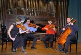 Cuarteto Bretón, Antonio Cárdenas, John Stokes, Anne Marie North, Iván Martín y Aurelio Viribay. Concierto Ernesto Halffter en su centenario , 2005