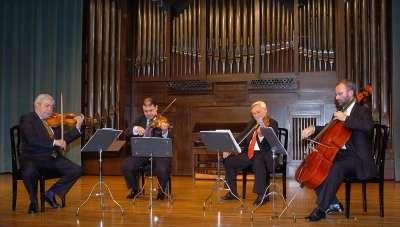 Cuarteto Español, Manuel Guillén, Emilio Mateu, Víctor Martín y Ángel Luis Quintana. Concierto Cuatro cuartetos españoles