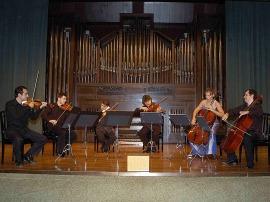 David Mata, Marc Oliú, Andoni Mercero, Aldo Mata, David Quiggle, Suzana Stefanovic y Cuarteto Granados. Concierto Cuatro historias del jazz , 2006