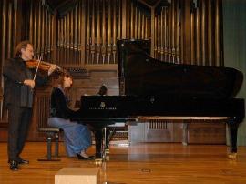 Elisaveta Blumina y Serguei Teslia. Concierto Música de cámara norteamericana , 2006