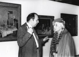 Gustavo Torner de la Fuente y Marguerite Duthuit, hija de H. Matisse. Exposición Henri Matisse Óleos, dibujos, gouaches découpées, esculturas y libros, 1980