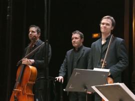 Trío Arriaga, Felipe Rodríguez, Daniel Ligorio y David Apellániz. Concierto Prodigios musicales , 2012