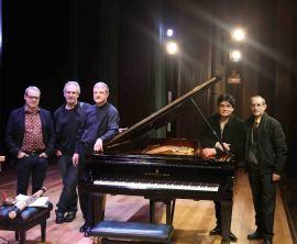 David del Puerto, Jesús Rueda Azcuaga, Albert Nieto, Moisès Bertrán y José Mª García Laborda. Concierto Impacto en España - Jazz impact , 2014