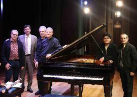 David del Puerto, Miguel Ángel Marín, Jesús Rueda Azcuaga, Albert Nieto, Moisès Bertrán y José Mª García Laborda. Concierto Impacto en España - Jazz impact , 2014
