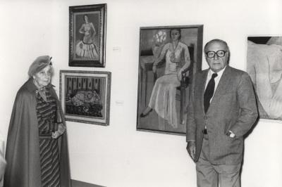 Marguerite Duthuit y Pierre Matisse. Exposición Henri Matisse Óleos, dibujos, gouaches découpées, esculturas y libros