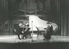Víctor Martín, Belén Aguirre y Genoveva Gálvez. Concierto Haendel (1985) , 1985