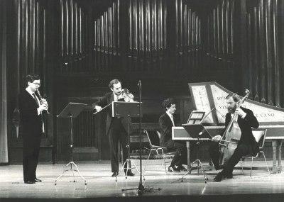 Álvaro Marías, Jan Grimbergen, Emilio Serrano y René Boch. Concierto Haendel