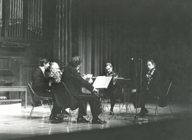 Quinteto Español, Luis Morató y Emilio Mateu. Concierto Integral de quintetos para cuerdas de Mozart , 1985