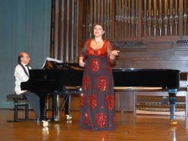 Tatiana Melnychenko y Juan Hurtado. Concierto Recital de canto y piano , 2007
