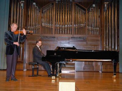 Janos Nagy y Ángel Zarzuela. Concierto Recital de violín y piano