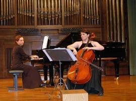 Dúo Assai, María Alcaide y María Lourdes Cabrero Seral. Concierto Recital de violonchelo y piano , 2007