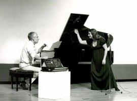 LIM (Laboratorio de Interpretación Musical), Meg Sheppard y Alcides Lanza. Concierto Música y tecnología , 1985