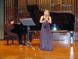 Alex Ramírez Gama y Garazi Orueta Domínguez. Concierto Recital de clarinete y piano , 2008