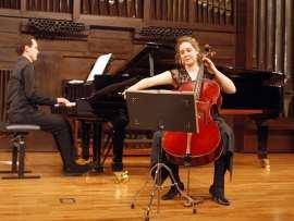 Beatriz Linares y Óscar Sancho. Concierto Recital de violonchelo y piano , 2008