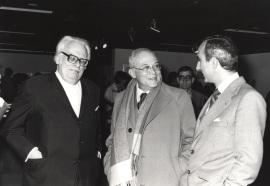 Félix Klee, Fernando Zóbel y José Luis Yuste Grijalba. Exposición Paul Klee Óleos, acuarelas, dibujos y grabados, 1981