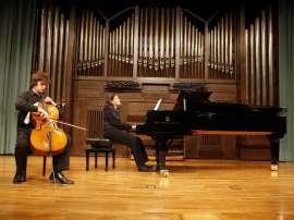 Simone Veil y Ofelia Montalván. Concierto Recital de violonchelo y piano , 2008
