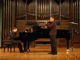 Antonio Ortiz y Alberto Menchen. Concierto Recital de violín y piano , 2009