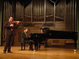 Alfredo García Serrano y Gerardo López Laguna. Concierto Recital de violín y piano , 2009