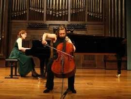 Rosalía Pareja y Elena Sharayeva. Concierto Recital de violonchelo y piano , 2009