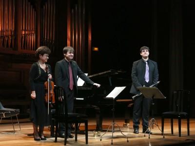 Iwona Andrzejczak, Duncan Gifford y David Salinas. Concierto Recital de música de cámara
