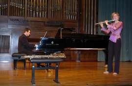 Mónica Raga y Duncan Gifford. Concierto La flauta española , 2005
